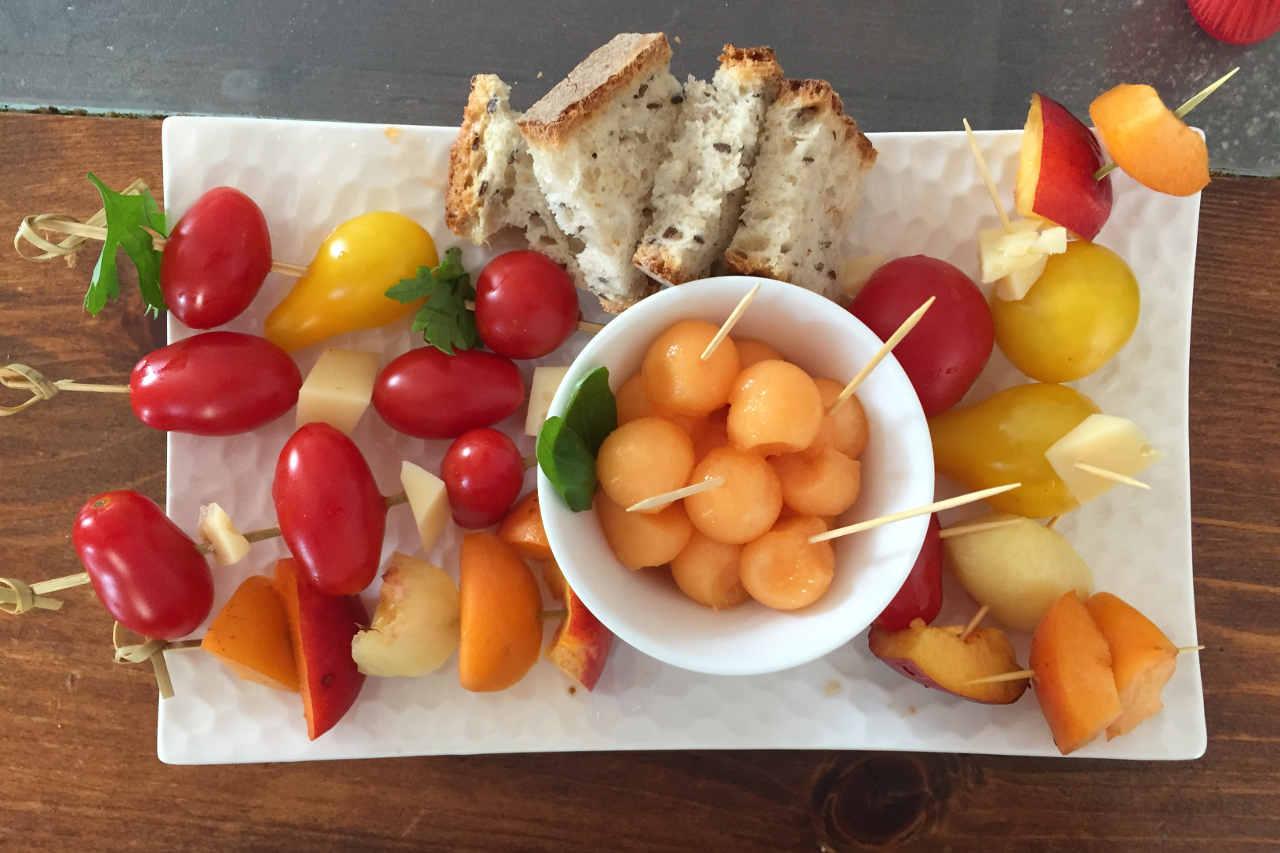 Brochette de légumes d'été