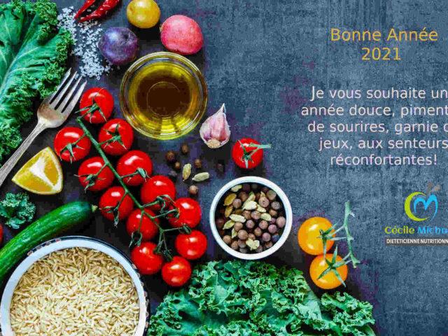 Meilleurs voeux 2021 Cécile Michaud diététicienne nutritionniste